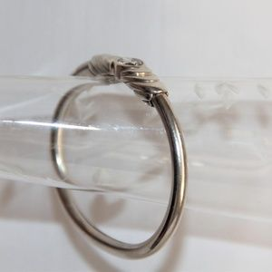 Kabana Jewelry - Vintage Kabana  Sterling Silver Swarovski Bangle